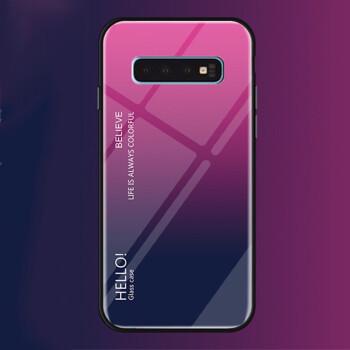Samsung S 10携帯ケースグラデーションガラススS 10+Plus保護カバー全カバーソフトシェルS 10 Eシリコンカバーの個性的なアイデアドトーンが同じタイプのS 10+/plus【グラデーションMay】