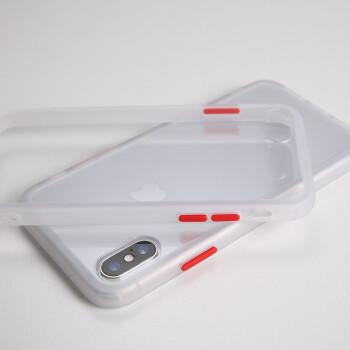 プレミアムアップルXRの携帯ケースiPhone XS MaxスクラブSEの携帯カバーの空気袋の衝突防止色8 P 7 Pシリコンのソフトサイドの携帯ケースの衝突防止色【透白】アップルXS Max【6.5インチ】