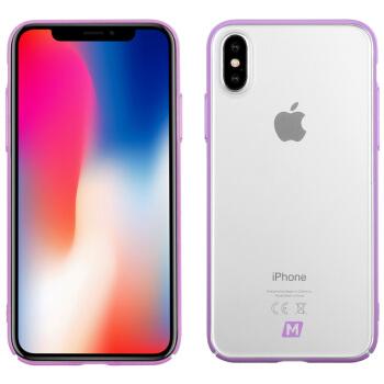 モーメッシュMOMAXアップルX携帯ケースiPhone X携帯保護カバーオイルカラー保護ケース紫色